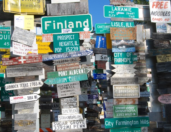 Dozens of sign posts create too many options
